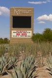 M-Erholungsort unterzeichnen herein Las Vegas, Nanovolt am 20. August 2013 Stockbild