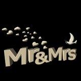 M. et Mme dans 3D Illustration Stock