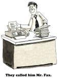 M. fax illustration de vecteur