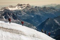 810 m (15 francia - turistas que suben u Fotografía de archivo