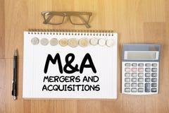 M&A (FUSIONES Y ADQUISICIONES) Fotografía de archivo
