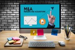 M&A (FUSIONES Y ADQUISICIONES), fusiones y adquisiciones, Busin Fotos de archivo
