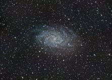 M33 galaxy from Alava in a summer day royalty free stock photography