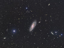 M106 Galaxy. Galaxies imaged with a telecope and a scientific CCD camera royalty free stock photography