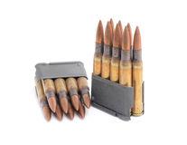 M1 Garand clips and ammunition. Royalty Free Stock Photos