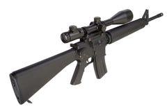 M16 geweer met telescopisch gezicht Stock Fotografie