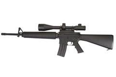 M16 geweer met telescopisch gezicht Stock Foto's