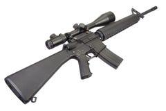 M16 geweer met telescopisch gezicht Stock Foto