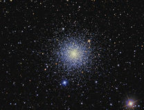 M3 Globular cluster. Imaged with a telescope and a scientific CCD camera stock image