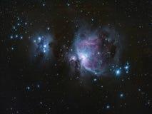 M42 Great Orion Nebula Running Man Nebula Stock Photography