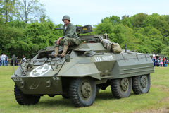 M8 Greyhound armored car from the Museum of American Armor during World War II Encampment Stock Images
