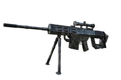 M16 gun model isolate background Royalty Free Stock Photography