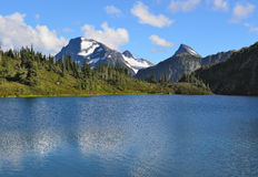 M Gurr湖, Bella Coola,英国哥伦比亚,加拿大 免版税库存图片
