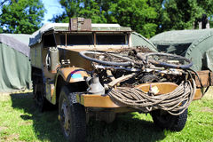 M3 half-track. USA military battlefield transport vehicle used during World War II Stock Image