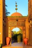 M'hamid, Maroc - 22 février 2016 : Entrée principale d'hôtel de Chez le Pacha en dehors de vue Photo libre de droits