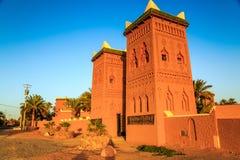 M'hamid, Maroc - 22 février 2016 : Hôtel de Chez le Pacha en dehors de vue Photos stock