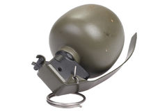 M67 Hand Grenade. Isolated on white Stock Photos