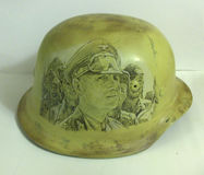 M40 helmet. Drawing. Stock Images