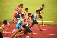 1,500 m.in het Open Atletische Kampioenschap 2013 van Thailand. Stock Foto's