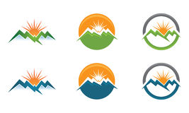 M High Mountain Logo template Royalty Free Stock Photography