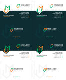 M house business card Royalty Free Stock Images