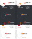 M house business card stock image