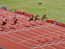 The 110m Hurdles  preliminary in The 2015 IAAF World Athletics Championship in Beijing Stock Images