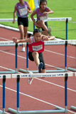 100 m. Hurdles in Thailand Open Athletic Championship 2013. Stock Photos