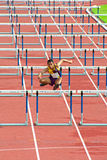 100 m. Hurdles in Thailand Open Athletic Championship 2013. Stock Images