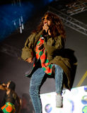 M.I.A. live on stage Royalty Free Stock Photo
