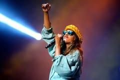 M.I.A., a rapper named Mathangi Maya Arulpragasam, performs at FIB Festival Stock Image