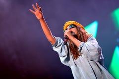 M.I.A., a rapper named Mathangi Maya Arulpragasam, performs at FIB Festival Stock Photography