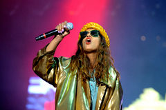 M.I.A., a rapper named Mathangi Maya Arulpragasam, performs at FIB Festival Royalty Free Stock Images