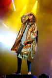 M.I.A., a rapper named Mathangi Maya Arulpragasam, performs at FIB Festival Stock Image