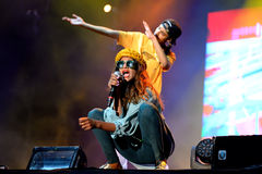 M.I.A., a rapper named Mathangi Maya Arulpragasam, performs at FIB Festival Stock Images