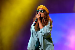 M.I.A., a rapper named Mathangi Maya Arulpragasam, performs at FIB Festival Stock Photography