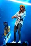 M.I.A., a rapper named Mathangi Maya Arulpragasam, performs at FIB Festival Stock Photos