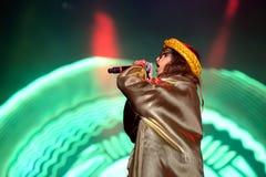 M.I.A., a rapper named Mathangi Maya Arulpragasam, performs at FIB Festival Royalty Free Stock Photo
