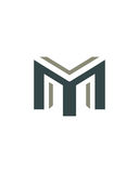 M initial icon 4 financial business insurance abstract Stock Photography