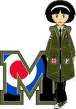 M jest dla Mod ilustracja wektor