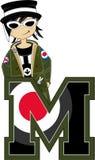 M jest dla Mod royalty ilustracja
