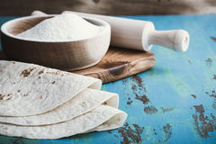 Mąk tortillas, Tex styl Zdjęcie Stock