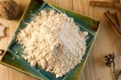 Mąka cynamon i cukier Obrazy Stock