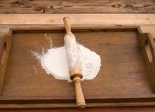 Mąka na biurku Zdjęcie Stock