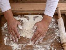 Mąka na biurku Zdjęcie Royalty Free