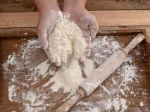 Mąka na biurku Fotografia Stock
