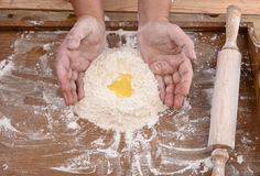 Mąka na biurku Obrazy Royalty Free