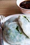 mąki jedzenie robi odparowanych tajlandzkich warzywa Obrazy Royalty Free