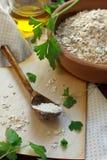 mąki owsa oleju oliwki pietruszka Zdjęcia Royalty Free