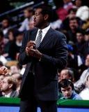 M L Carr Boston Celticshuvudtränare Arkivbild